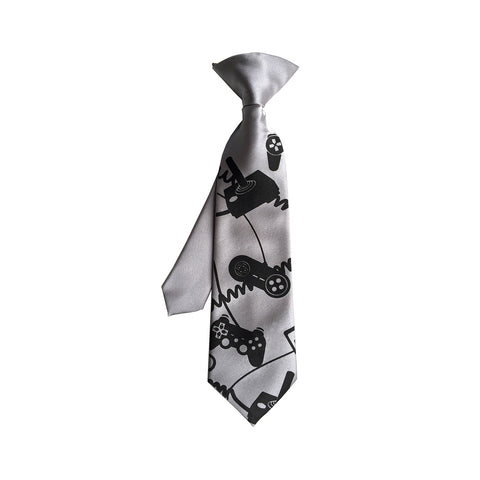 Video Game Controller kids tie. Boys clip-on necktie.