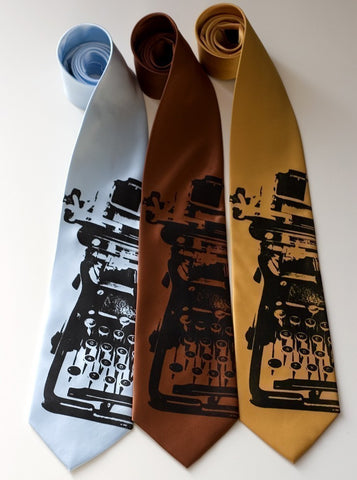 Typewriter Silk Necktie. Underwood tie.