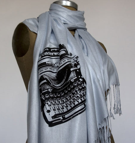 Typewriter Scarf. Underwood pashmina.