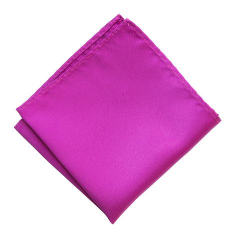 Violet Pocket Square. Solid Color Satin Finish, No Print