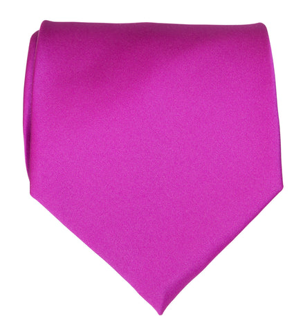 Violet Necktie. Solid Color Satin Finish Tie, No Print