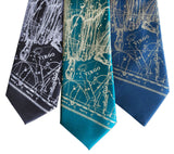 Virgo the Maiden Tie, Astrology Print Necktie, by Cyberoptix