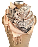 Washington DC Map Print Scarf, by Cyberoptix. Navy on sand.