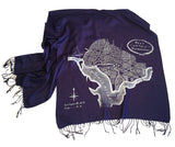 Washington DC, Georgetown Map Print Scarf, by Cyberoptix.