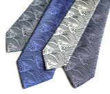 Japanese wave motif neckties, by Cyberoptix