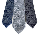 Crashing Waves Japanese motif necktie