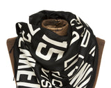 Black Detroit Scroll scarf