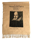 William Shakespeare book cover, First Folio Print scarf, by Cyberoptix