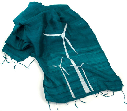 Wind Turbine Silk Scarf