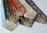 cybeorptix woodgrain print ties