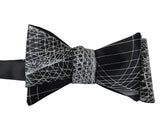 Wormhole Bow Tie, Geometric Op Art Print