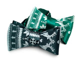 Green Ugly Holiday Sweater bow ties, by Cyberoptix