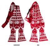 Red Ugly Christmas Sweater bow ties