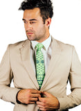 green ugly holiday sweater print tie