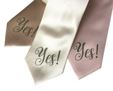Yes Print engagement neckties
