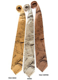 Zug Island Ties. Dark burgundy on pale gold, champagne, pale copper.