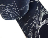 Zug Island Silk Necktie, navy and white. by Cyberoptix
