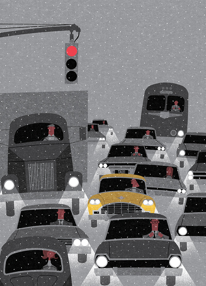 New York In The Winter - by Ryo Takemasa