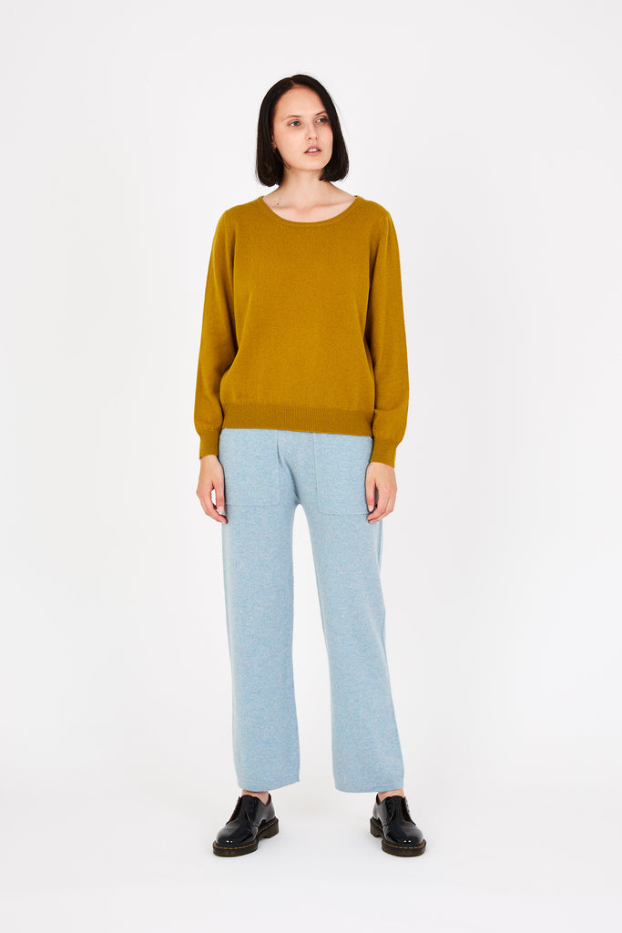 Laine sweater in mustard yellow