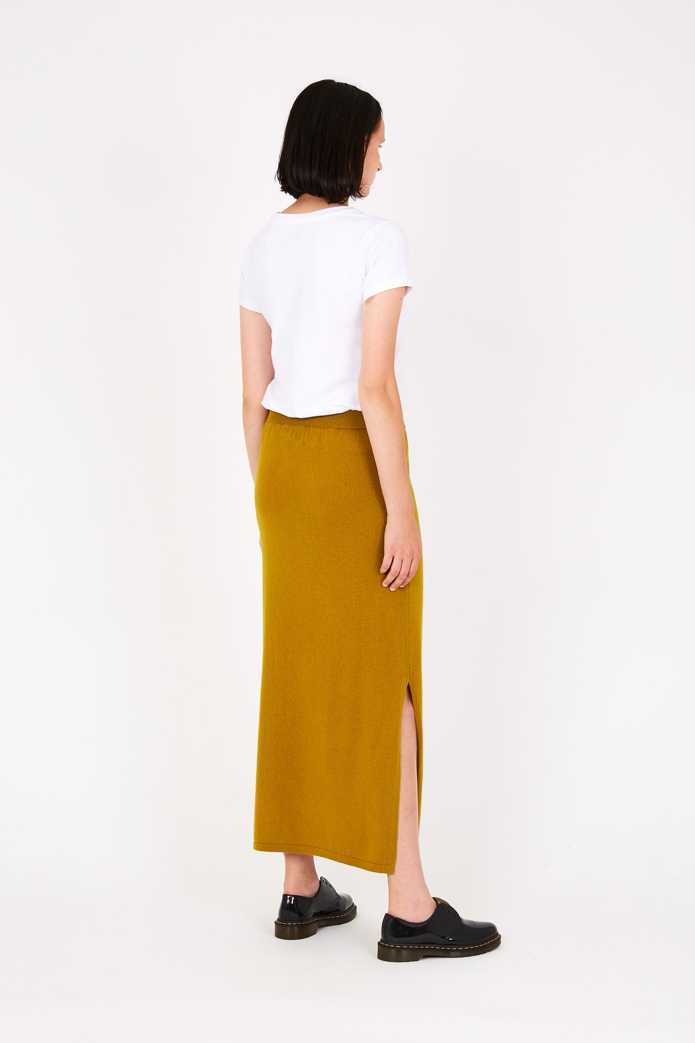 Kelly cashmere skirt in yellow
