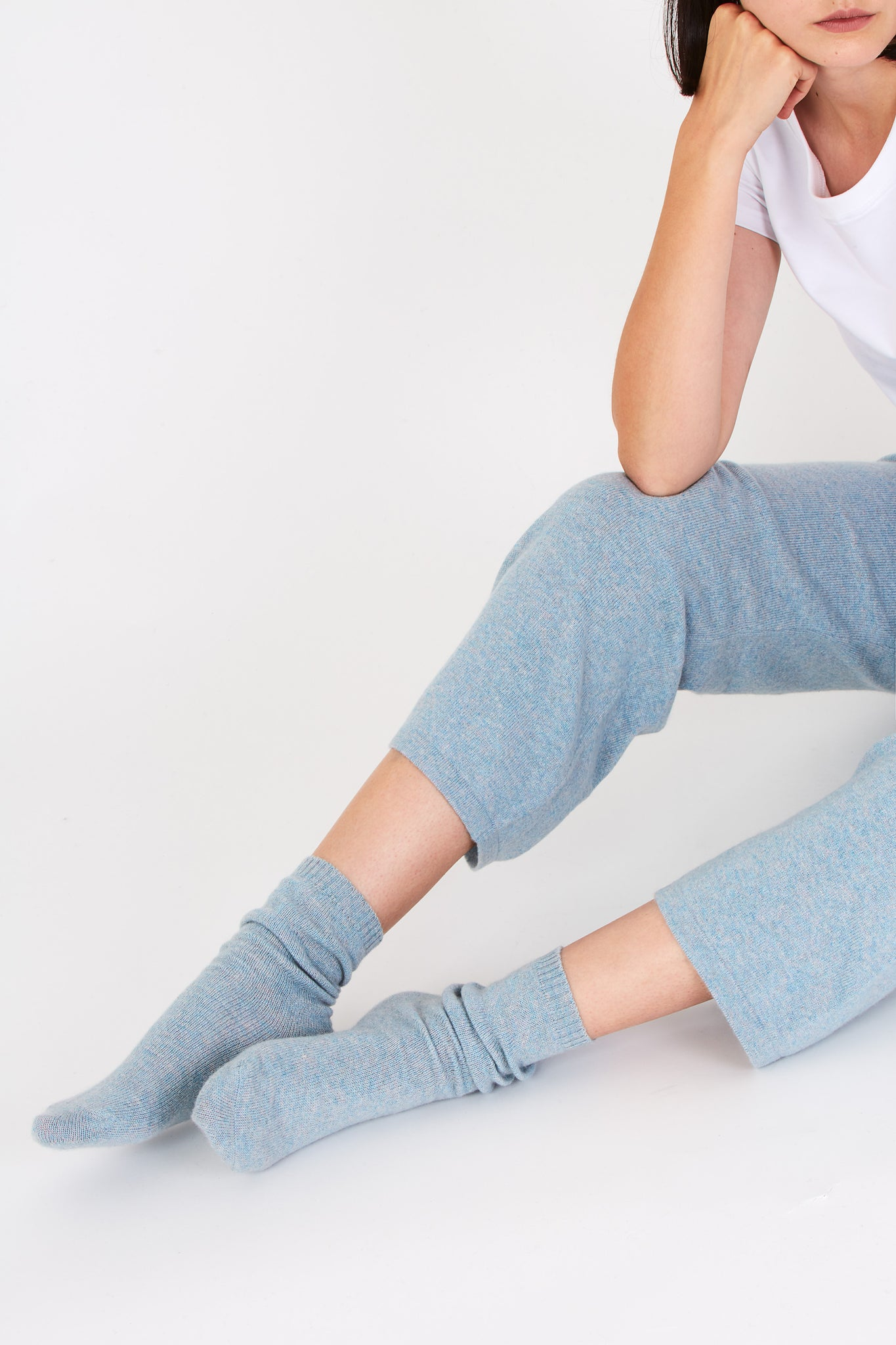 Ulla lounge socks in light blue