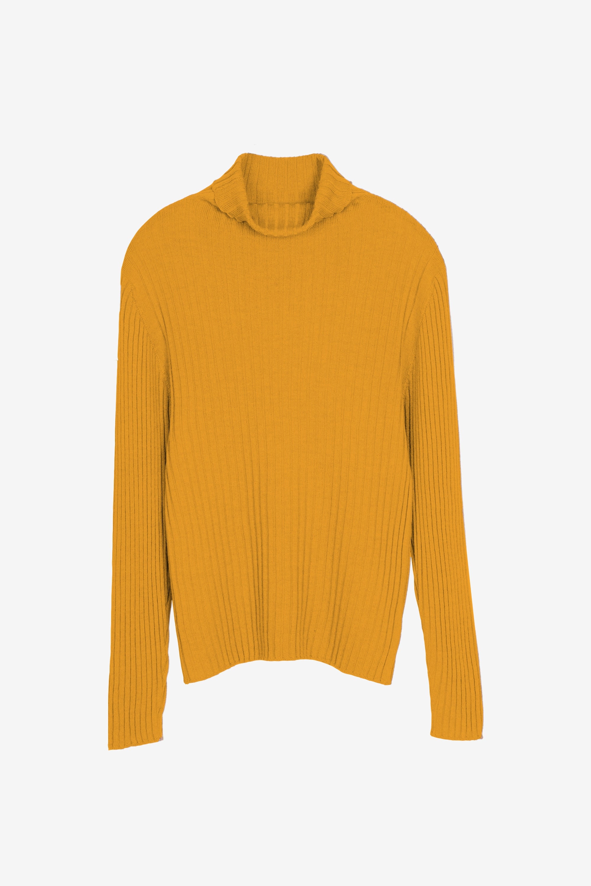Bice merino turtleneck in ochre yellow