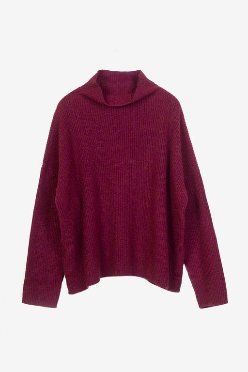 Drew cashmere sweater in burgundy