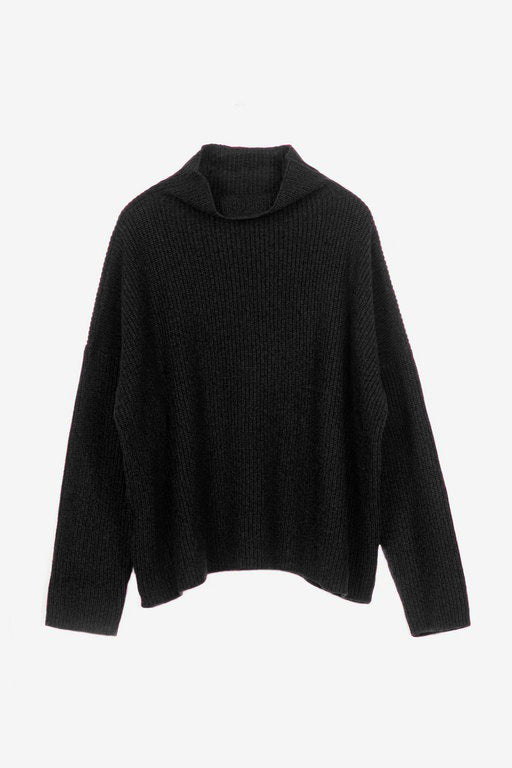 Drew cashmere sweater in black