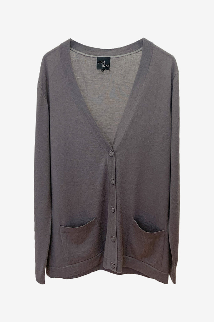 For Good: Grey Cardigan, size XL