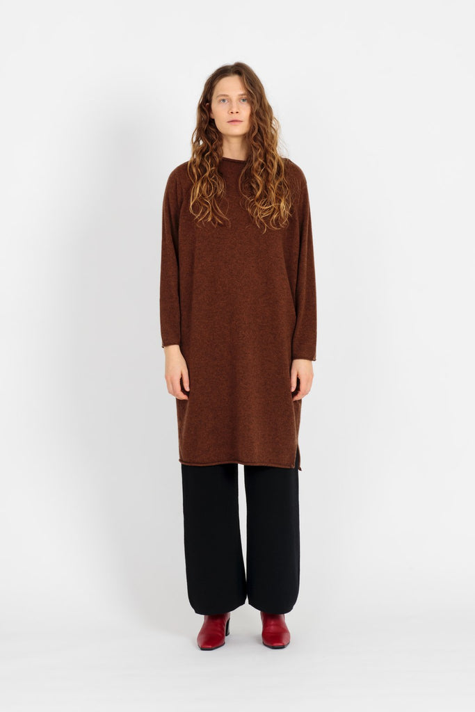 Iris dress in brown