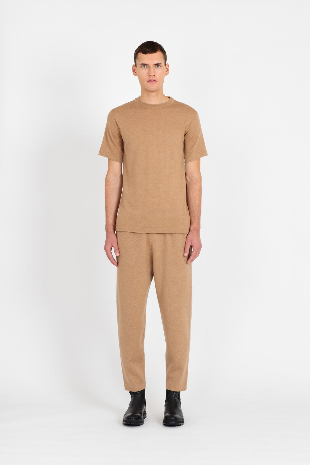 Mathis merino t-shirt in beige