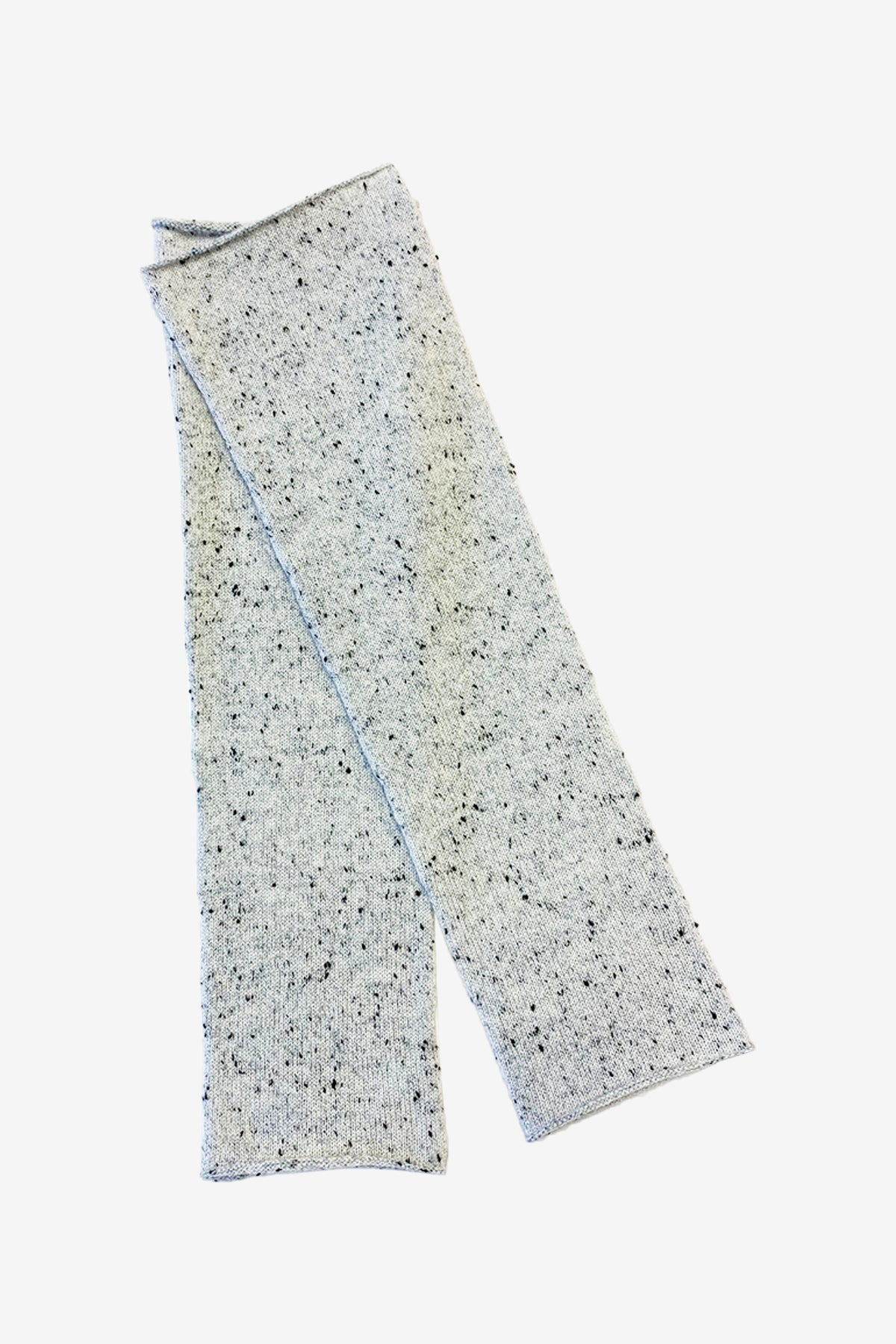 Sara cashmere arm warmers in light dotted grey