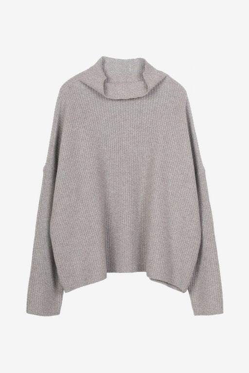 Drew cashmere sweater in greybeige