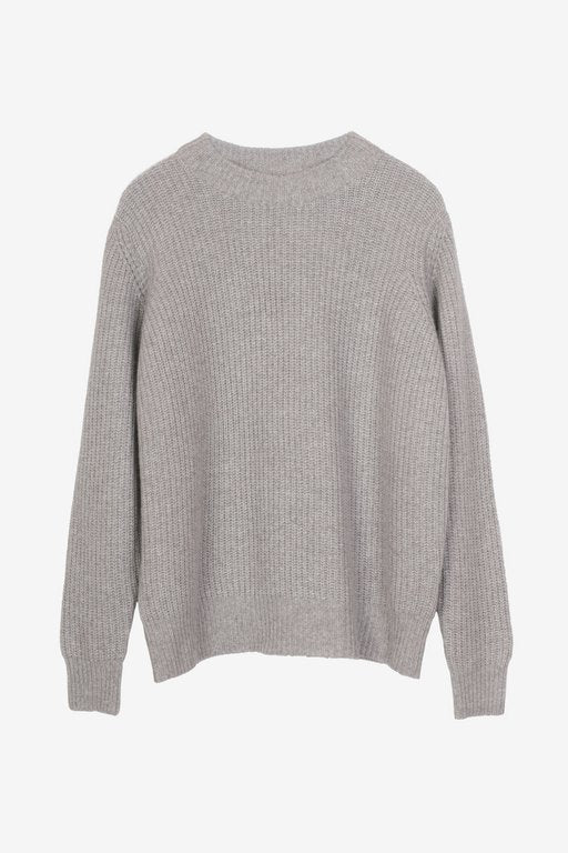 Emery cashmere sweater in greybeige