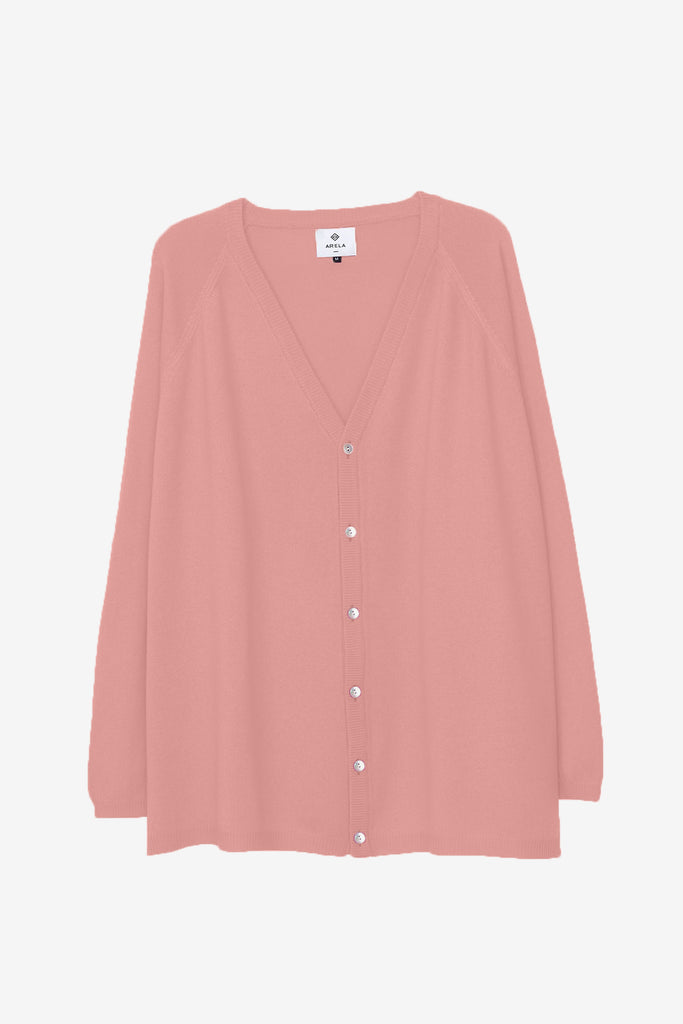 Jill cardigan in pale pink