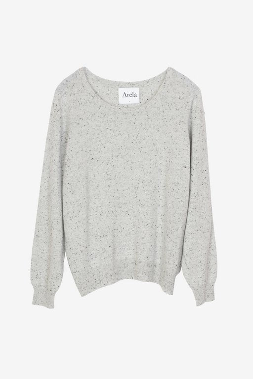 Laine cashmere sweater in light dotted grey