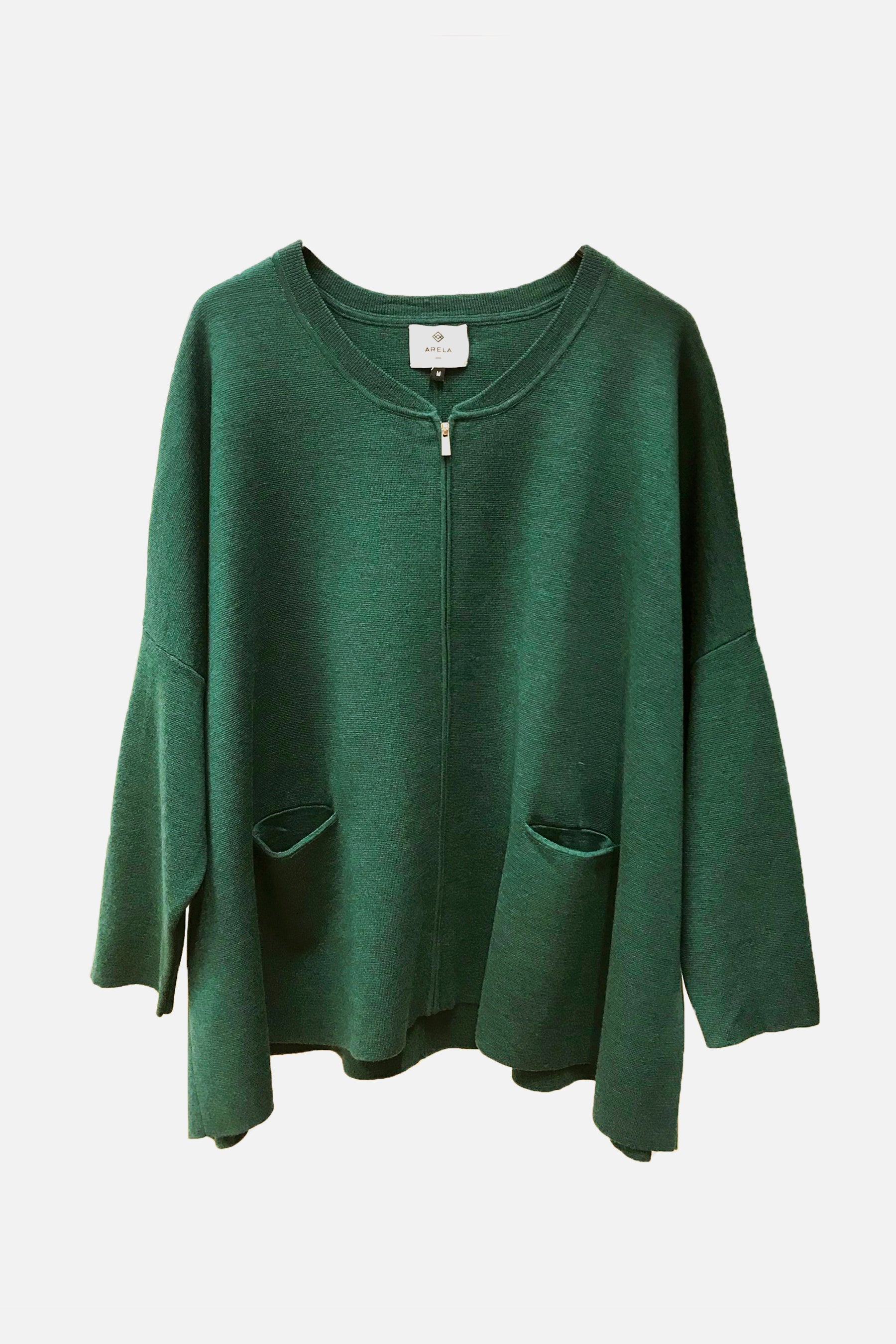 For Good: Green Cardigan, size M
