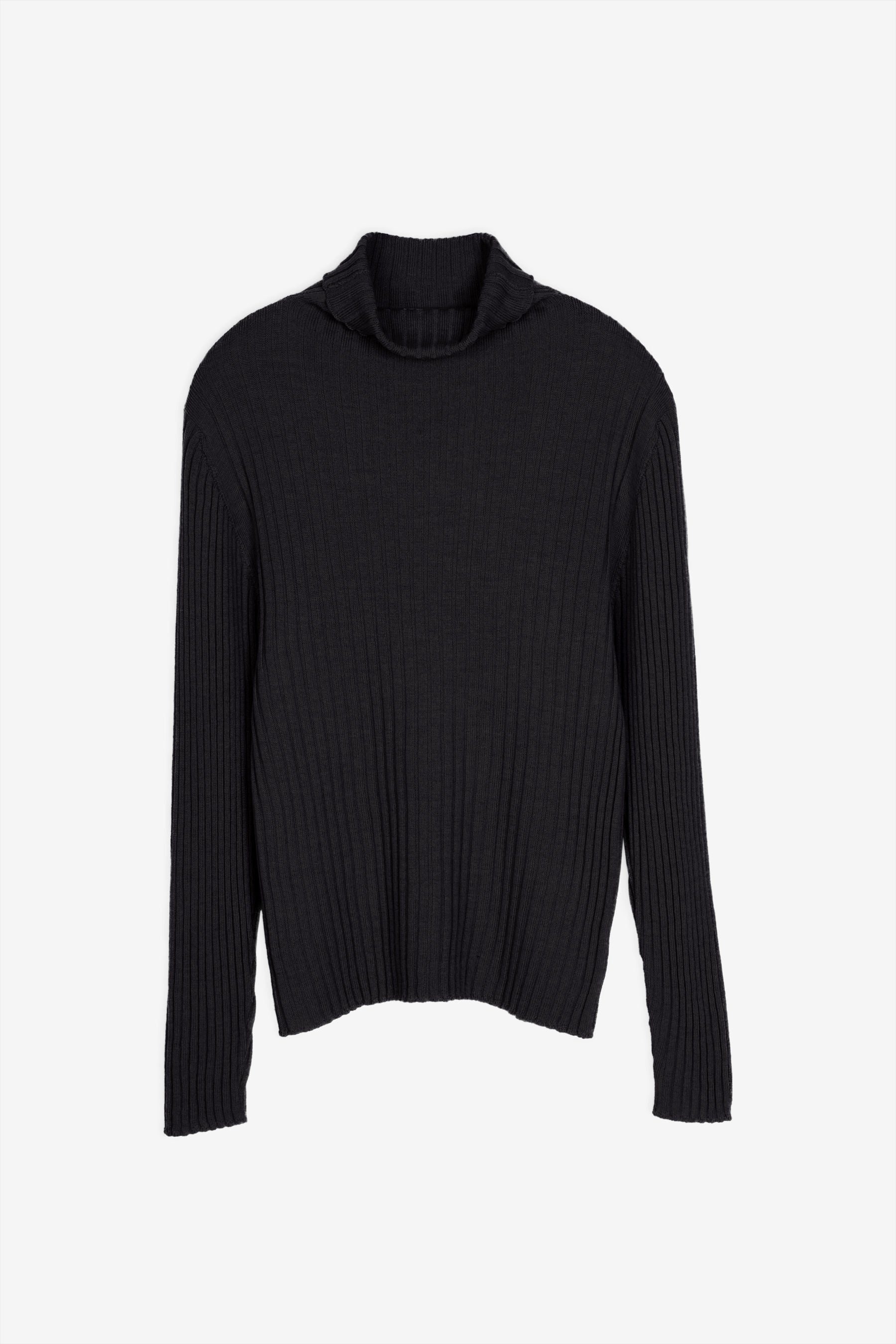 Bice merino turtleneck in black