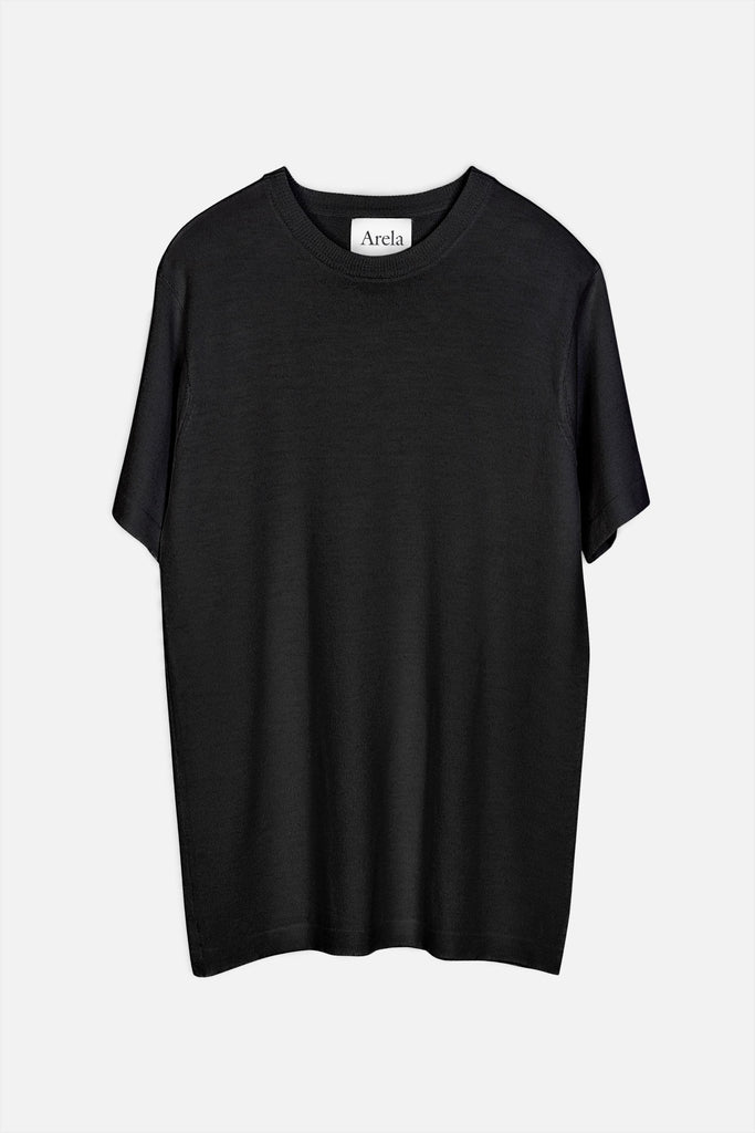 Mathis merino t-shirt in black