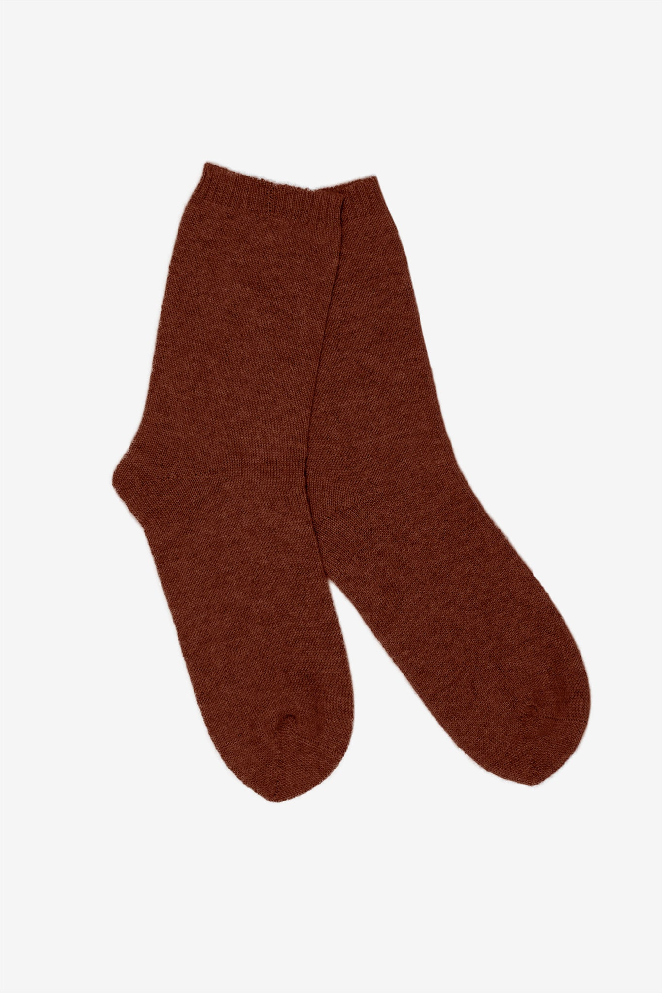 Ulla cashmere lounge socks in brown