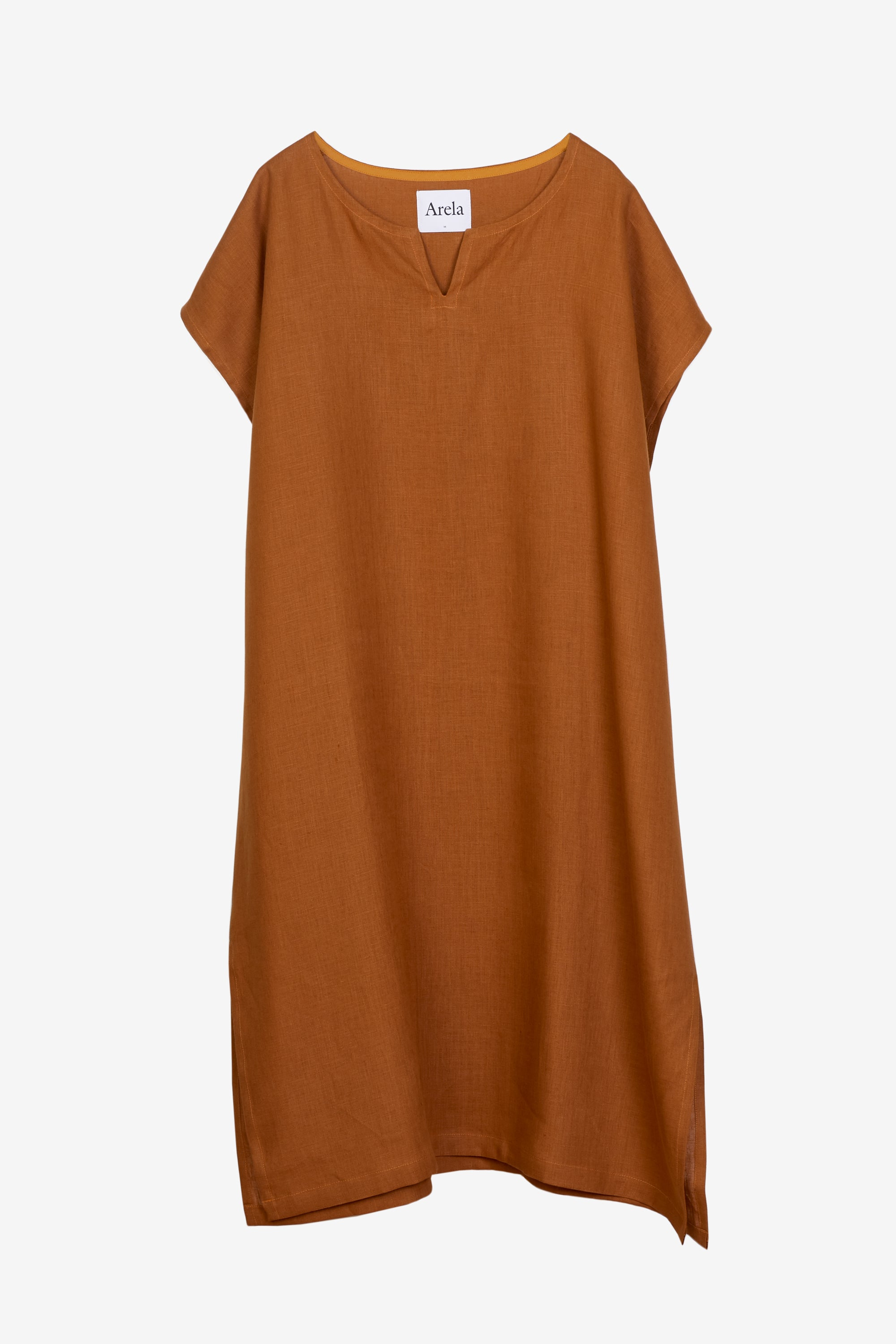 Arielle kaftan in brown linen