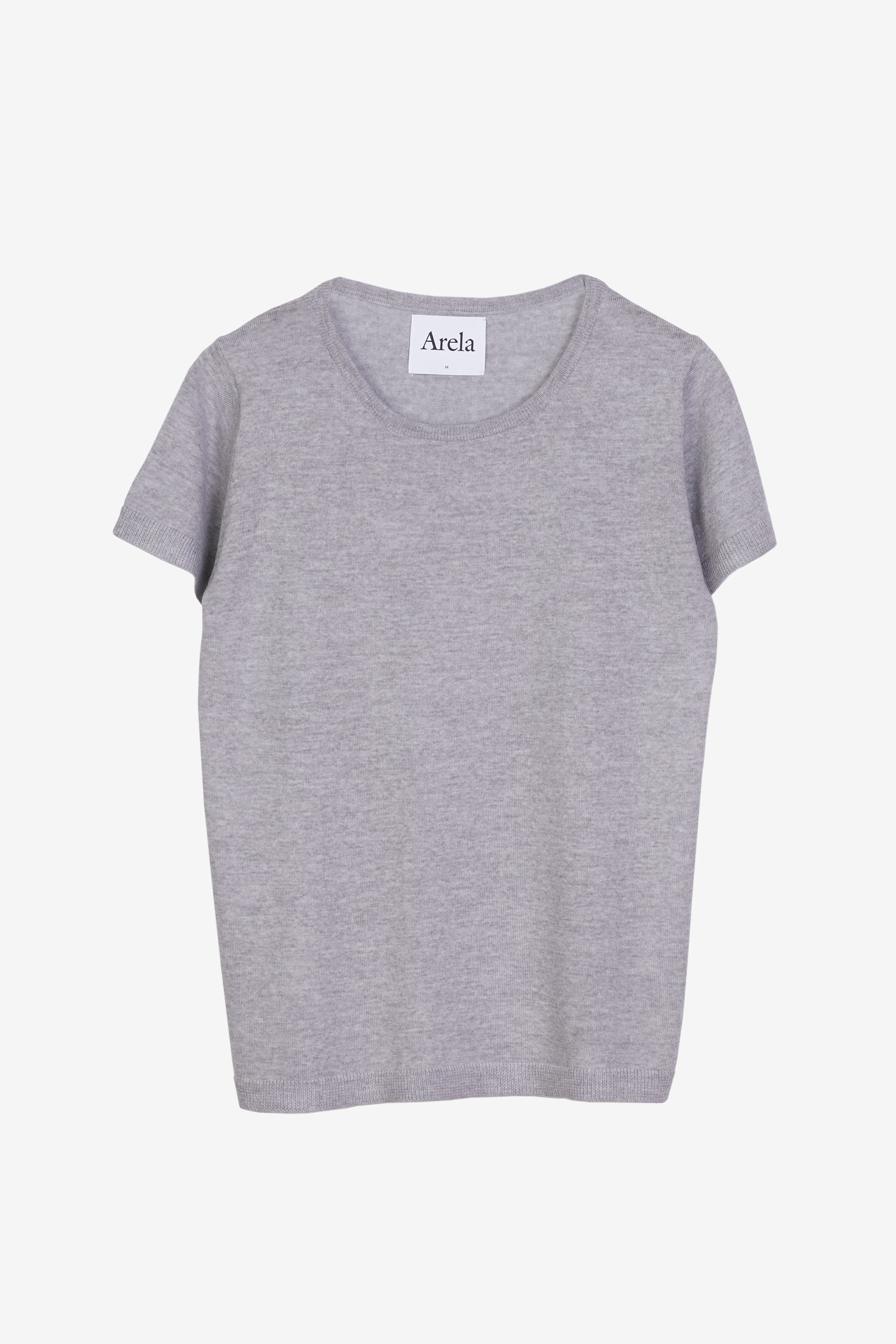 Knitted Kim t-shirt in light grey