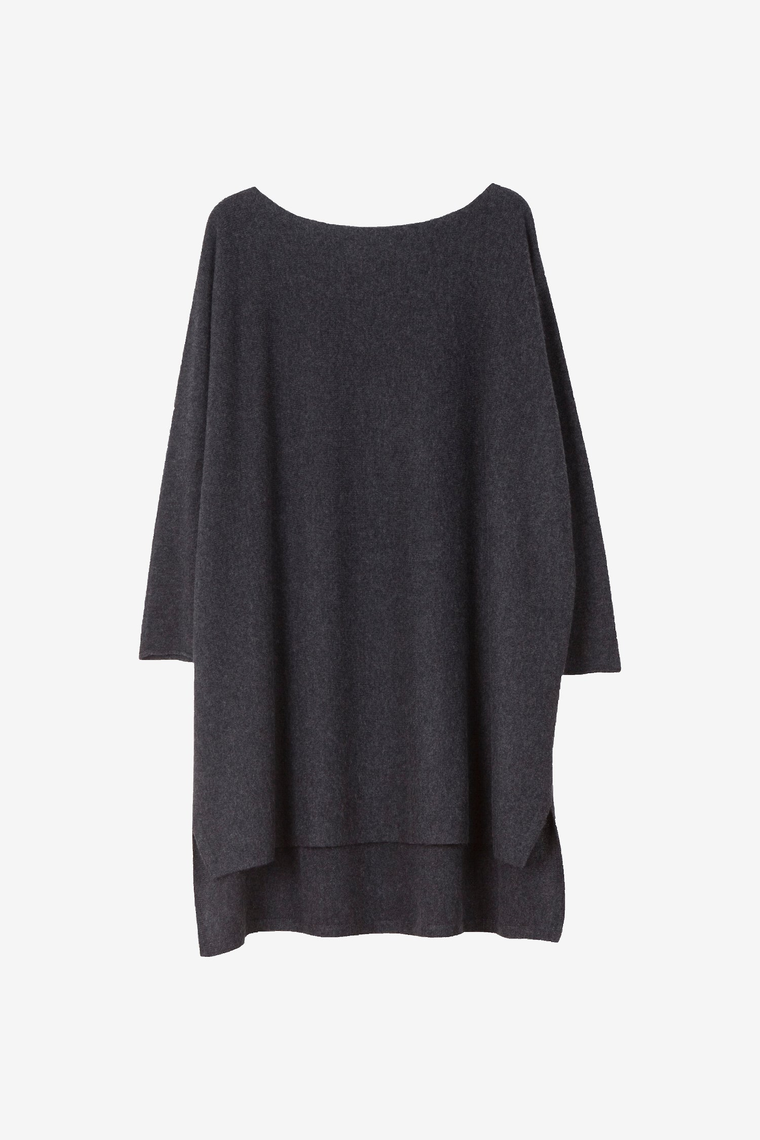 Eelia cashmere tunic in dark grey