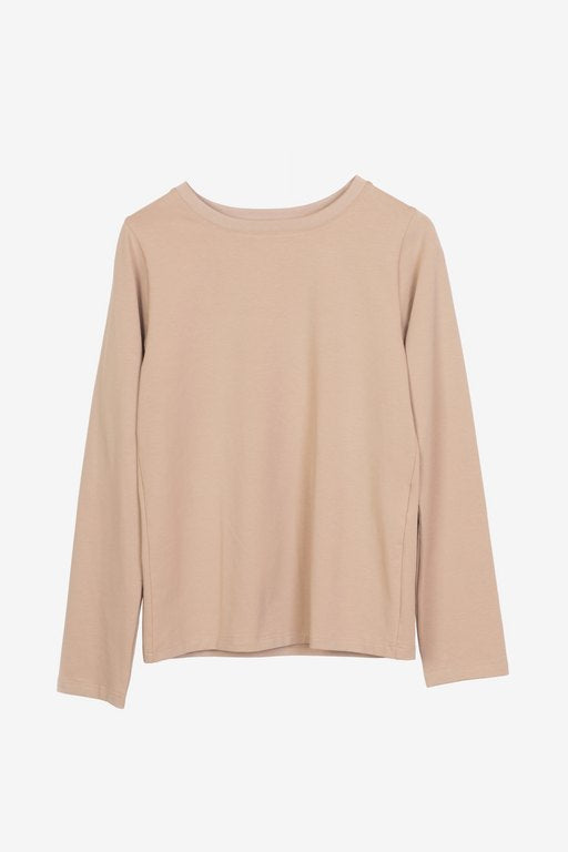 Essa long-sleeved t-shirt in beige