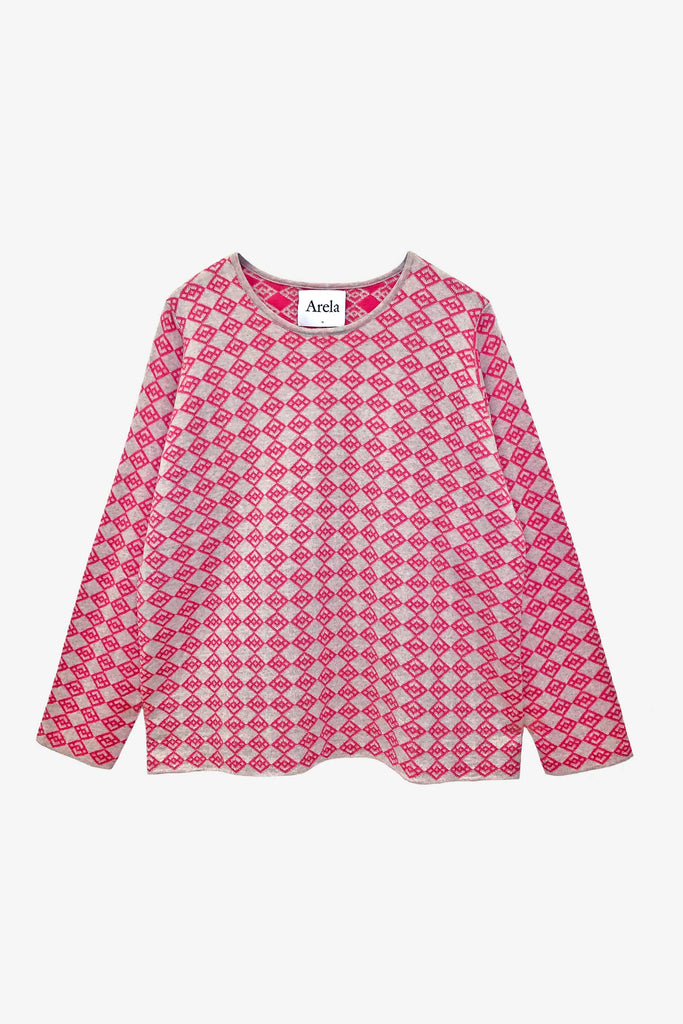 Edie symbol sweater in pink-beige