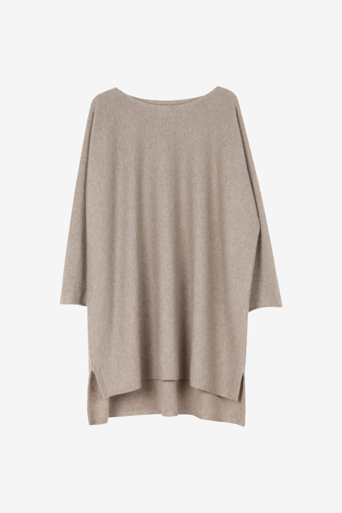 Eelia cashmere tunic in soft brown