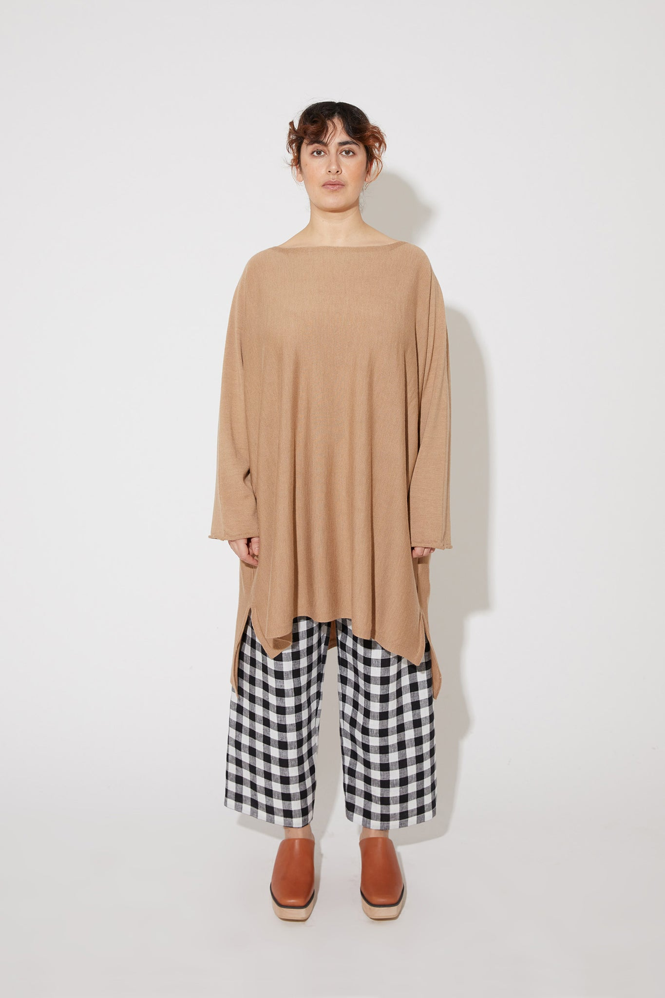 Eelia merino dress in beige