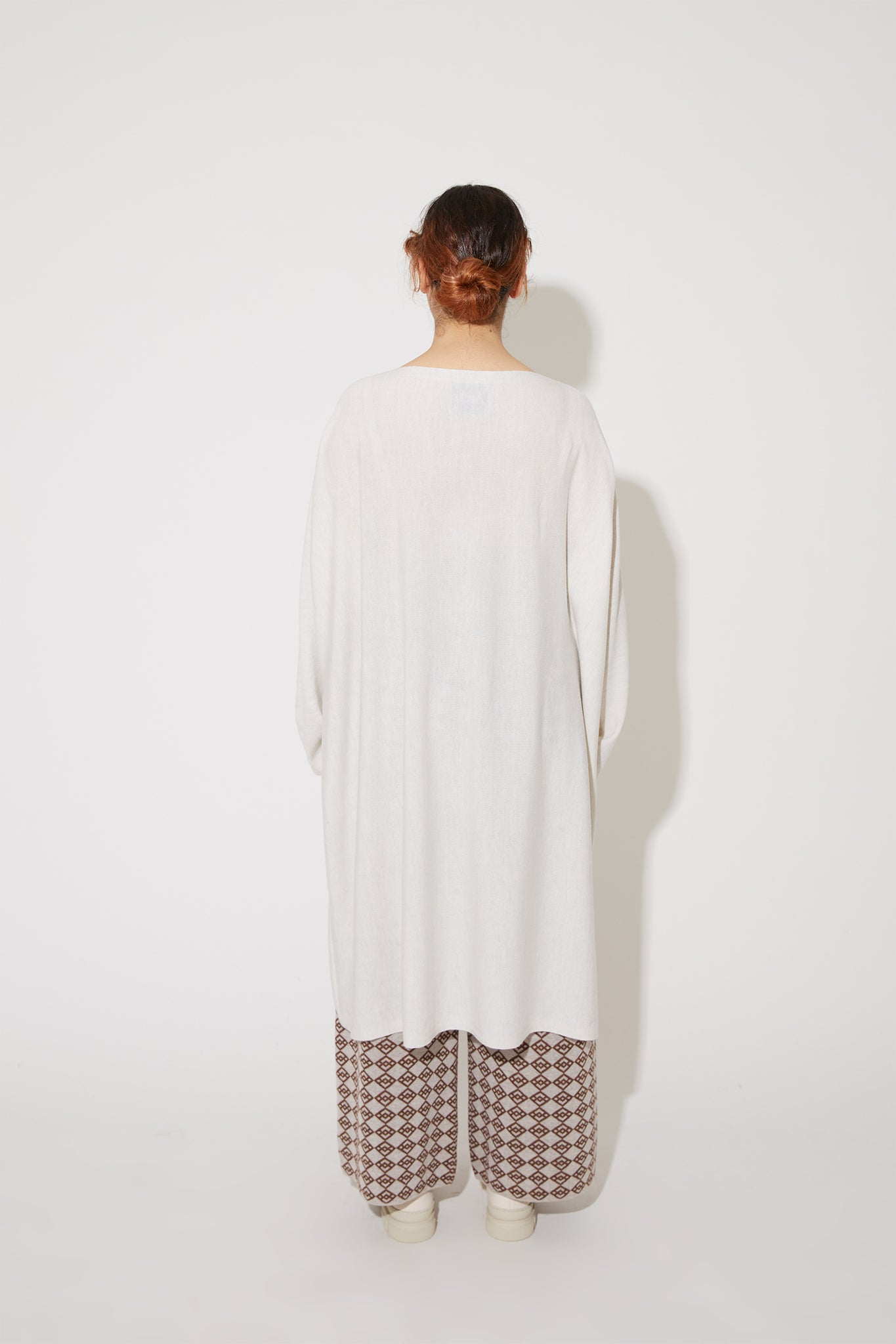 Eelia merino dress in ivory white