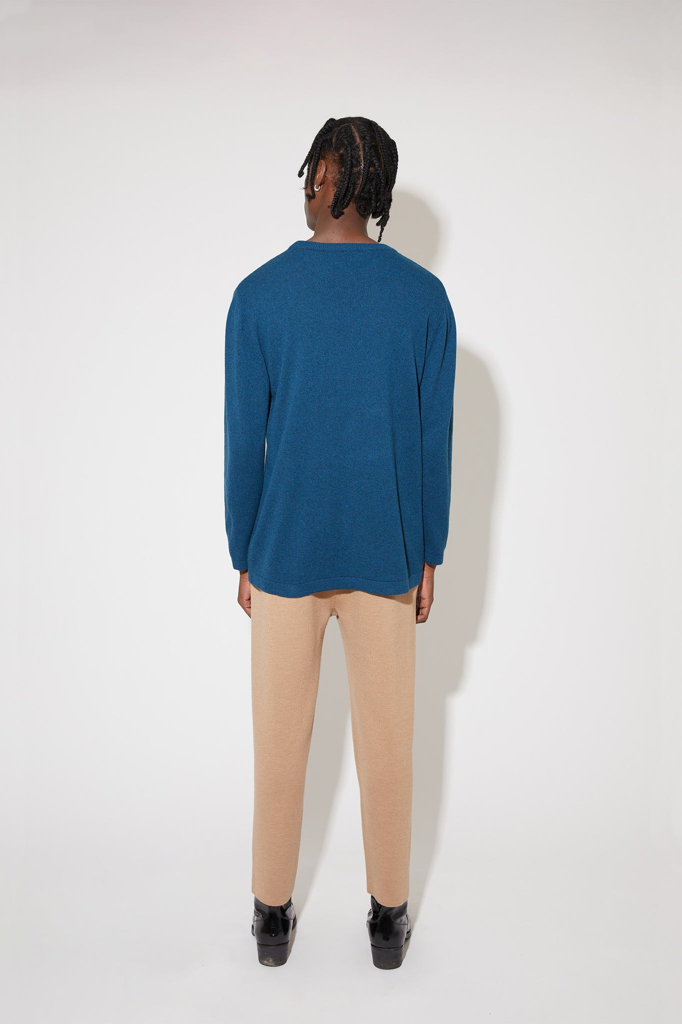 Franz cashmere sweater in blue