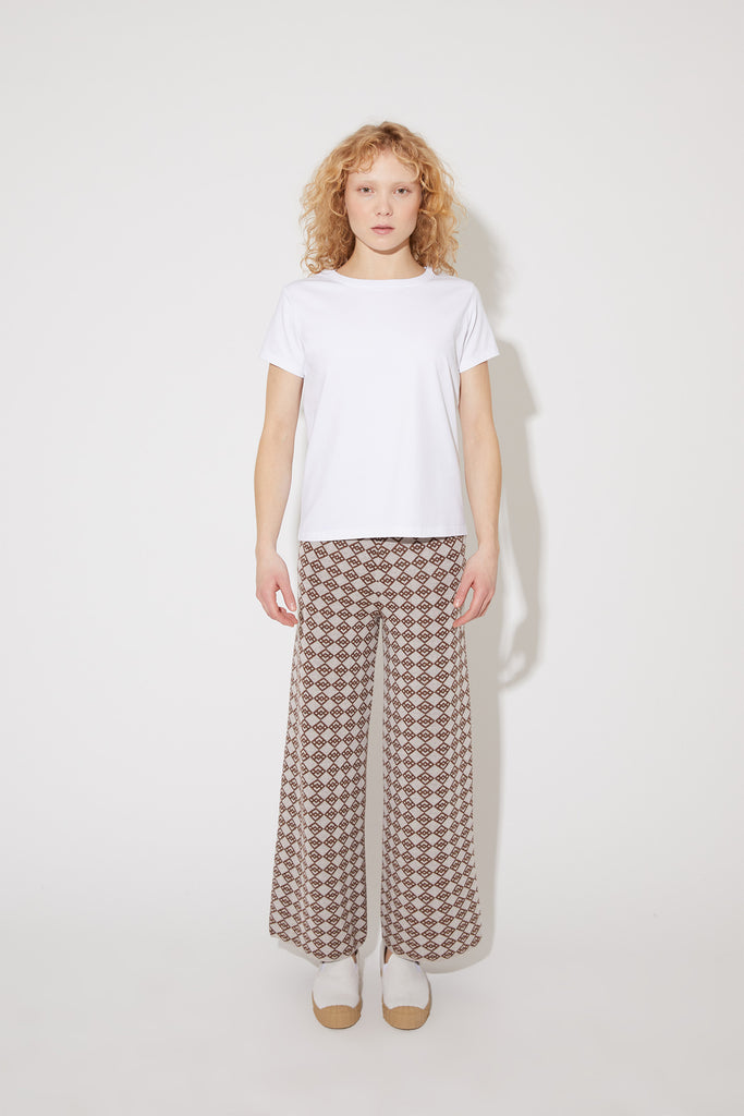 Gena symbol trousers in brown-beige